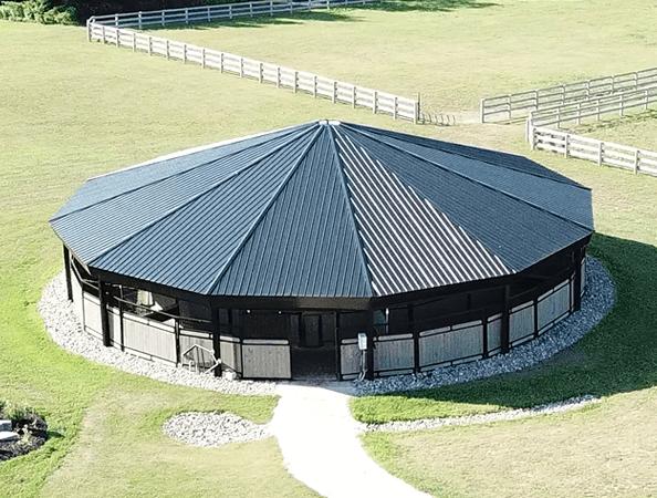 full roof horse exerciser